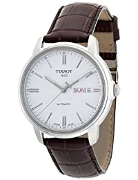 Tissot Men's Automatic lll T065.430.16.031.00 White Leather Swiss Automatic Watch