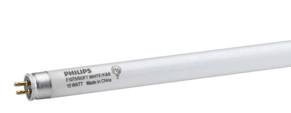 Philips 16 in. T5 10-Watt Soft White (2700K) Linear Fluorescent Light Bulb