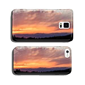 Panoramic photo of vibrant sunset cell phone cover case Samsung S5