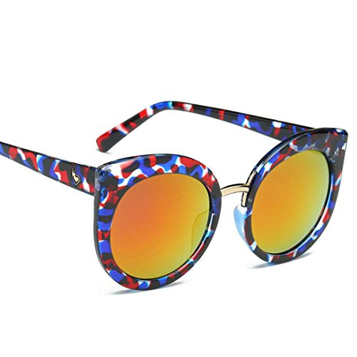 Vintage la elegante sol Cat Gafas F marca retro de Espejo Color de Winwintom diseñador Ojo Classic 0PdWcqA1