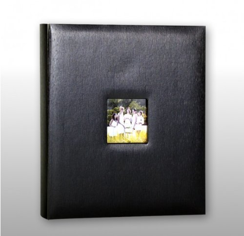 Price comparison product image KVD Kleer-Vu Deluxe Albums,  Leatherette Collection,  500 photos,  Photo Album Window Frame on Front Cover,  Black