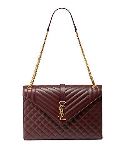 0e684c0ddd17 Saint Laurent Monogram YSL V-Flap Large Tri-Quilt Envelope Chain Shoulder  Bag -