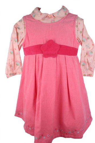 Laura Ashley Baby Girls Pink Corduroy Jumper Dress