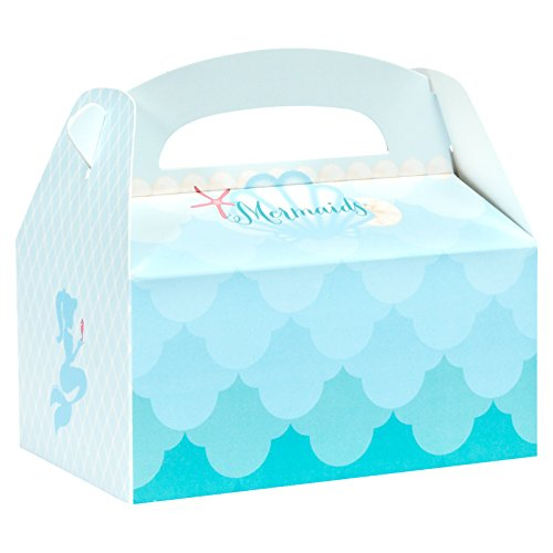BirthdayExpress Mermaids Under The Sea Party Supplies - Empty Favor Boxes (4) -