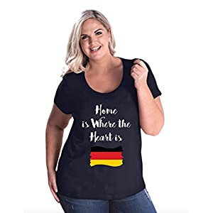 NIB Home is Where The Heart is Germany Womens Curvy Plus Size Scoopneck Tee (26/28NB)