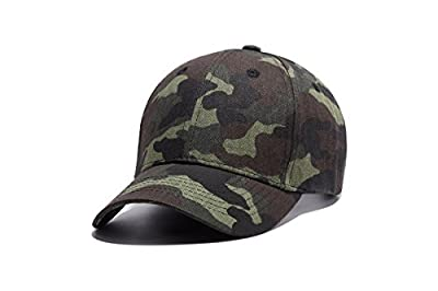 WUKE Baseball Cap, Adult/Unisex Camouflage Cap With Embroidery Curved Brim, Outdoor Recreation Adjustable Hip-hop Hat from WUKE