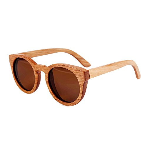 JapanX Bamboo Sunglasses & Wood Wooden Sunglasses for Men Women, Polarized Lenses with Gift Box – Wooden Vintage Wayfarer Sunglasses - Bamboo Wood Wooden Frame – New Style Sunglasses (A2 - Mens Nordstrom Sunglasses