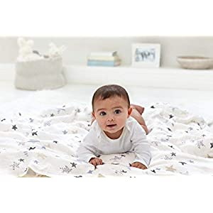 aden + anais Swaddle Blanket | Boutique Muslin Blankets for Girls & Boys | Baby Receiving Swaddles | Ideal Newborn & Infant Swaddling Set | Perfect Shower Gifts, 4 Pack, Rock Star