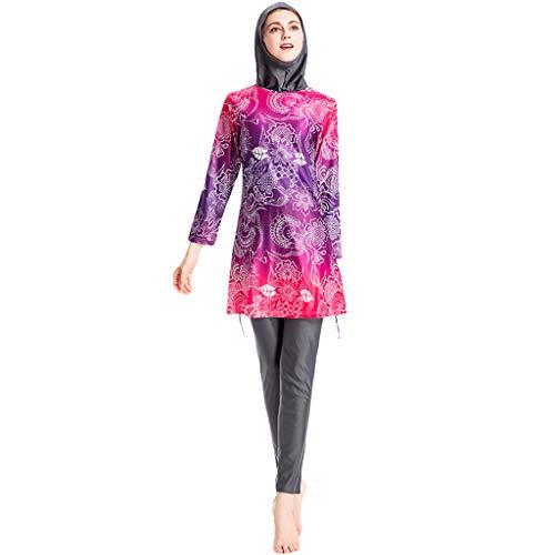 new concept d4bed 0c721 chic Zimuuy Muslimischen Bademode Damen Swimwear Mit Kappe ...