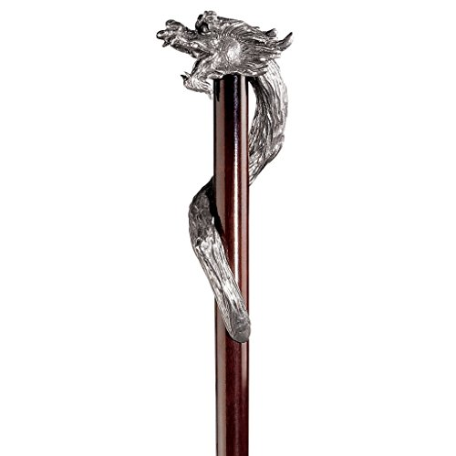 Design Toscano Staff of St. George Pewter Walking Stick by Design Toscano