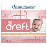 Dreft Baby Original Scent Powder Detergent 40 Loads 53 OZ (Pack of 12)