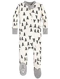 Unisex Baby Sleeper Pajamas, Zip Front Non-Slip Footed...