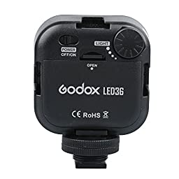 Godox Dimmable Ultra Bright Portable 260LUX CN36 Continuous On Camera Led Light Panel for Camera Camcorder Video(Fit Canon Sony Nikon almost DSLR Camera)