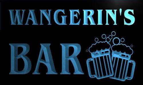 w033329-b WANGERIN Name Home Bar Pub Beer Mugs Cheers Neon Light Sign Barlicht Neonlicht Lichtwerbung