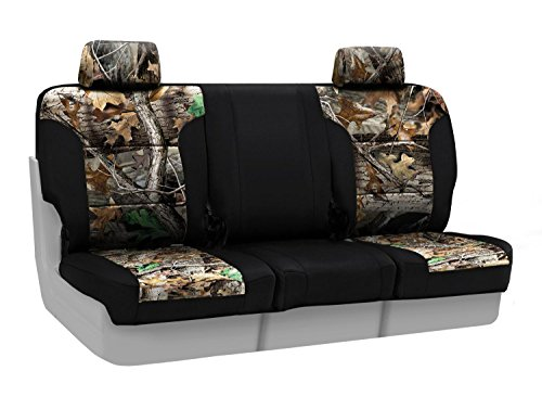 Coverking Front 40/20/40 Custom Fit Seat Cover for Select Chevrolet Silverado Models - Neosupreme (Realtree Advantage Timber Camo with Black Sides)