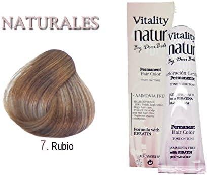Tinte Vitality Natur Sin Amoniaco + Keratina 60ml. Tono Rubio