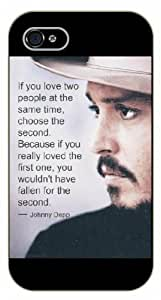 iPhone 5 / 5s If you love two people at the same time, choose the second. Johnny Depp, black plastic case / Inspirational and motivational life quotes / SURELOCK AUTHENTIC