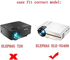 para ELEPHAS Proyector portátil de vídeo Mini Elephas LED, 1080P ...