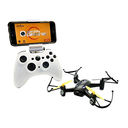 High Speed WiFi FPV Drone with Camera, Live Video, Headless Mode, 2.4GHz, 4 Chanel, 6D gyro, One key Return, Altitude Hold and More