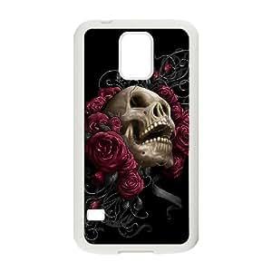 Custom Colorful Case for SamSung Galaxy S5 I9600, Skulls & Rose Cover Case - HL-526638