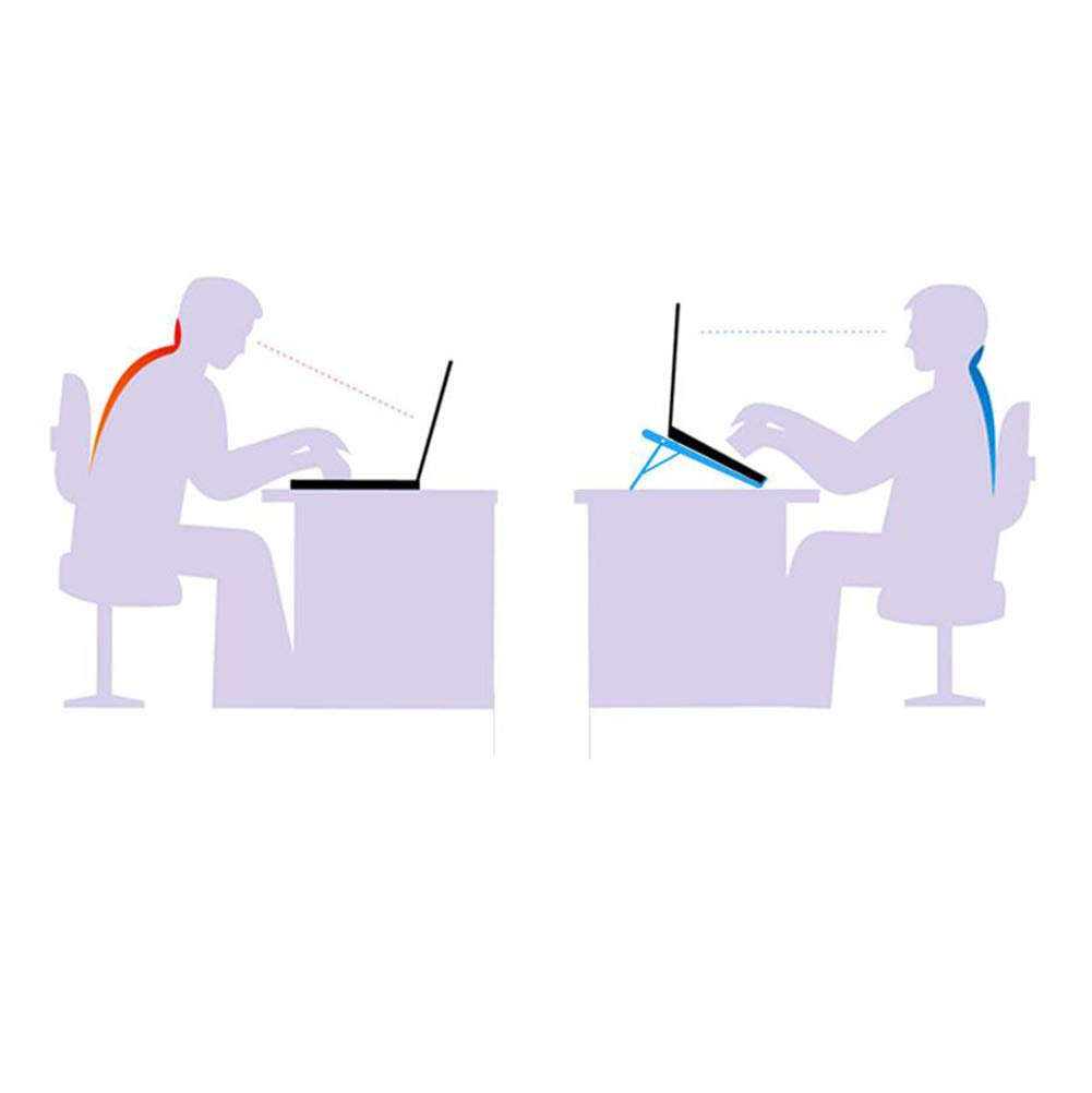 DQyn Soporte Soporte para Laptop - Soporte DQyn Ajustable para Computadora Portátil Soporte Plegable para Computadora Portátil Ergonómico para Macbook Notebook PC Tableta para iPad,Negro 0ca3db