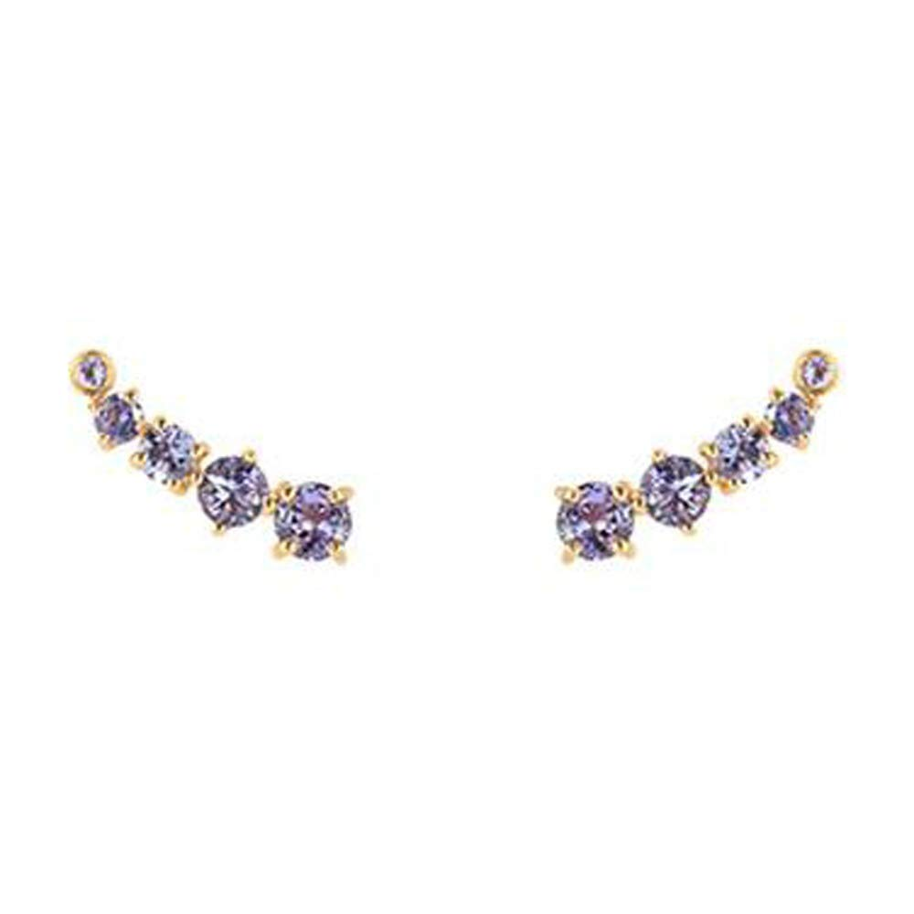 Nathis Celeste White CZ Earclimbers By Sizzling Silver