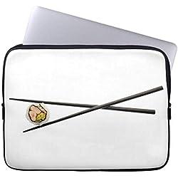 Sushi Roll Chopsticks Customized Template Soft Sleeve Laptop Case 15 15.4 Inch Computer Case Art Thin Soft Neoprene Computer Sleeve