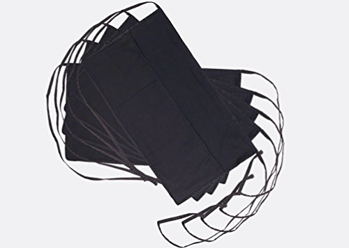 TwiZt3r Black Waitress Apron-5 Pack with 6 Pockets Reversible - One Size Fits All