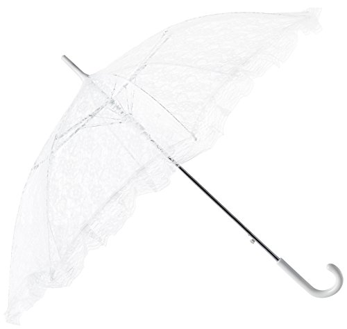Firefly Imports Homeford White Lace Parasol Umbrella for Bride, -