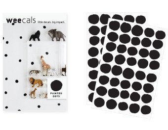 (Wee Gallery, WeeCals, Decorative Wall Decals - Black Dots)