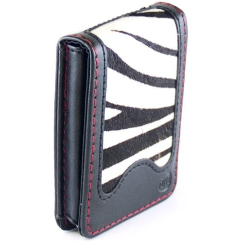 Digital Lifestyle Outfitters DLA63535/17 HipCase Folio-Style Zebra Print Case with Belt Clip for iPod nano 3rd Gen