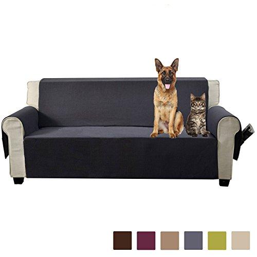 Aidear Anti-Slip Sofa Slipcovers Jacquard Fabric Pet Dog Couch Covers Protectors (Sofa: Oversized, Gray) - Large 2 Seat Sofa