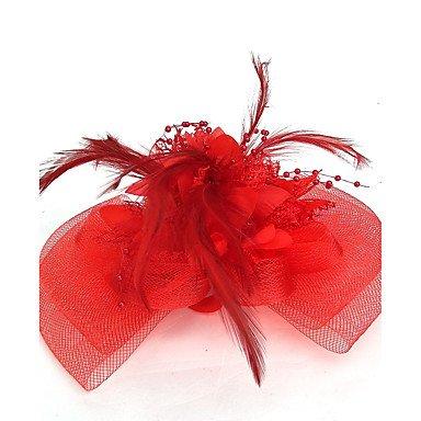 ABC-Sombreros y gorras Boinas   Red Fascinators Sombreros   para la Cabeza  with Flor 1pc Boda Ocasión Especial Celada 521a89671c3