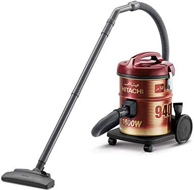 Hitachi Vacuum Cleaner 1600 Watts, 15 Liters, CV-940Y SS220 WR