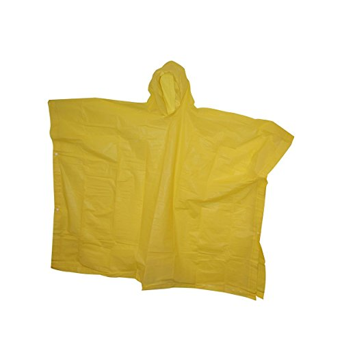 Tarp Case - The Weather Station Pullover Adult Poncho with Wide Coverage and Carrying Case, Yellow, 1-pack