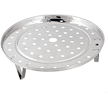 GBSTORE Cooking Round Stainless Steel 8.5 Inch Diameter Steaming Rack w Stand