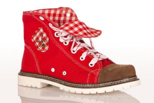 Trachten Boots - JACKY - rot/braun/rot Rot