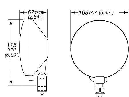 Amazon Com Hella H13750601 500 Driving Lamp Kit Automotive