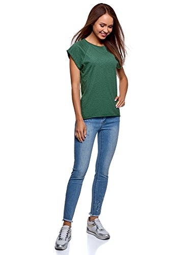 in Basic Verde 6d00m Cotone Shirt oodji Donna T Ultra xwqAYSnI