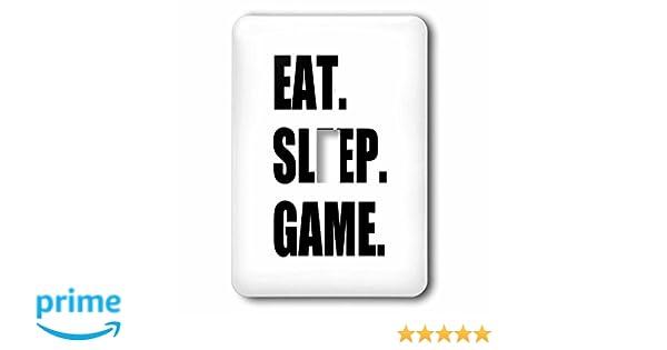 Eat Sleep Game Black License Plate Frame Tag Holder