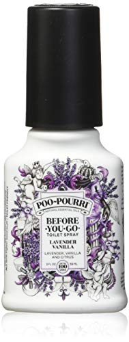 PooPourri Before You Go Spray, Lavender Vanilla, 2 Ounce (2 Count) (Water Perfume Fun Drops)