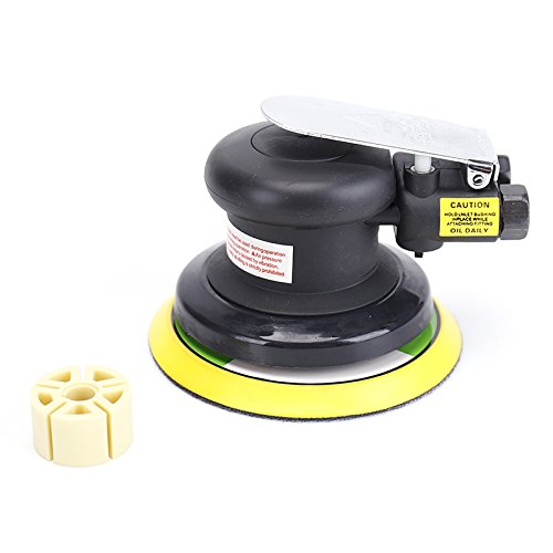 "5""Professional Air Random Orbital Palm Sander,Dual Action Pneumatic Sander,Polisher Sanding,Light Weight,Low Vibration, Heavy Duty by NOVIA TOOLS (Image #7)"
