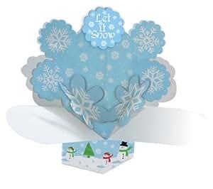Dimensional Pop-Out Style Centerpiece, Snowman Scene