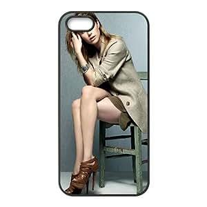 iPhone 4 4S caja del teléfono Funda Negro Emma Roberts X7Q6PV teléfono celular Caso Funda de plástico duro
