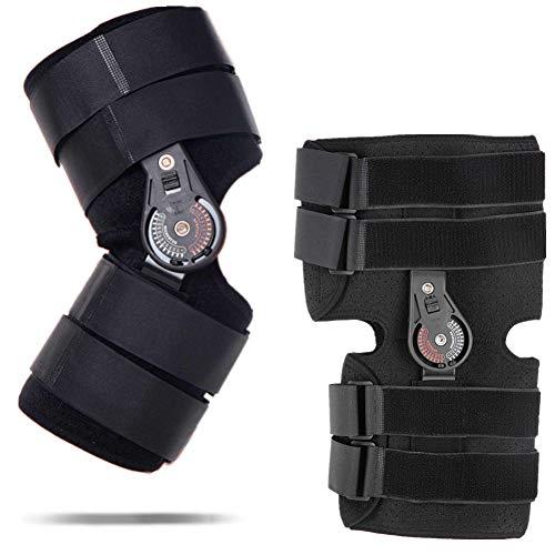 Ortesis de rodilla con bisagra con mandril, Ortesis de rodilla ajustable ajustable proveedores para lesiones deportivas y Protección contra la articulación de la rodilla Brace fijo Hombre Mujer