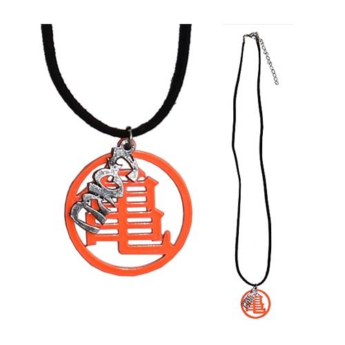 Dragon Ball Z Master Roshi's Orange Kanji Leather Necklace
