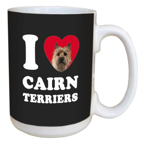 Tree Free Greetings LM45026 I Heart Cairn Terriers Ceramic Mug with Full-Sized Handle, 15-Ounce