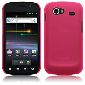 Samsung NEXUS S Rubberised Hard Back Cover By Terrapin - Pink (151-002-008)