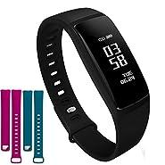 Waterproof Fitness Tracker Watch with Heart Rate Monitor for Men Women, Smart Sports Bracelet Activity Tracker with Blood Pressure Monitor for Android iPhone