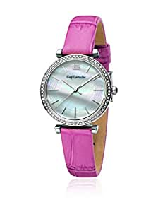 Guy Laroche Women's White/Mother of Pearl Dial Leather Band Watch - 32mm - L2014-01